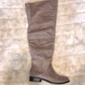 BRAND NEW Charlotte Russe Gray Riding Boot